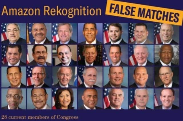 アマゾンの顔認識技術、米議員28人を犯罪者と誤認