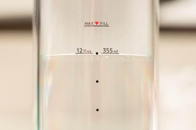 355mlのお湯を入れる