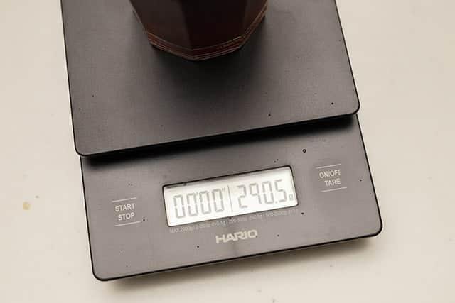 重さを測ったら290.5gでした