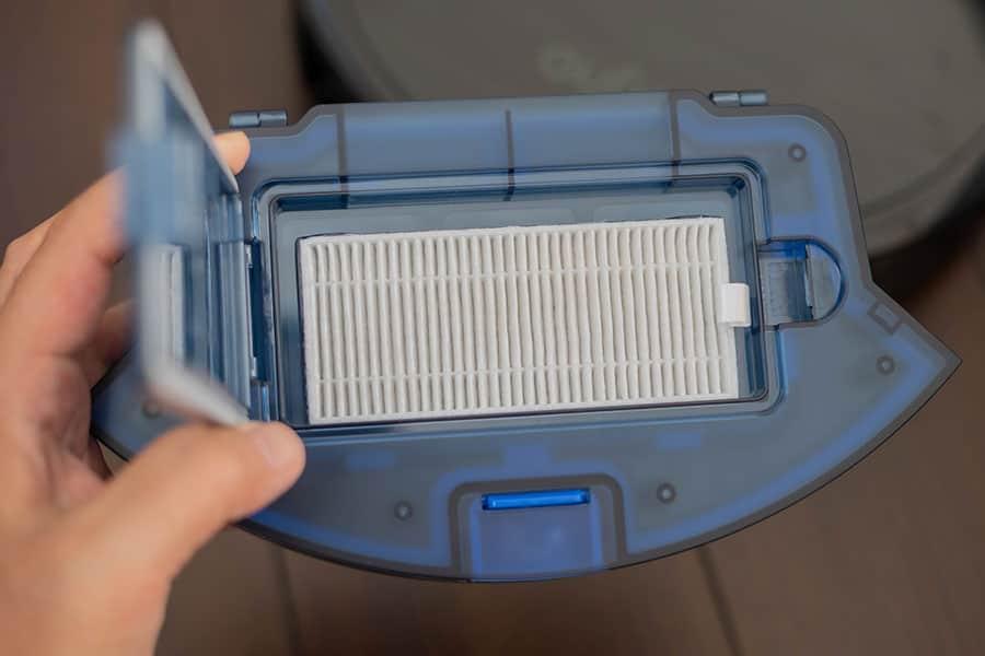 ダスト容器内の高性能フィルター