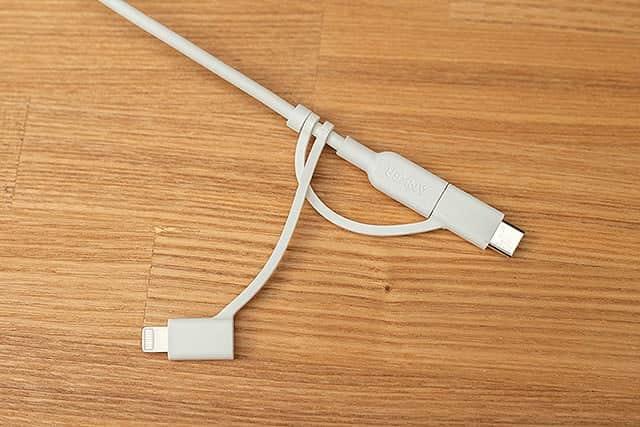 USB-Cを装着