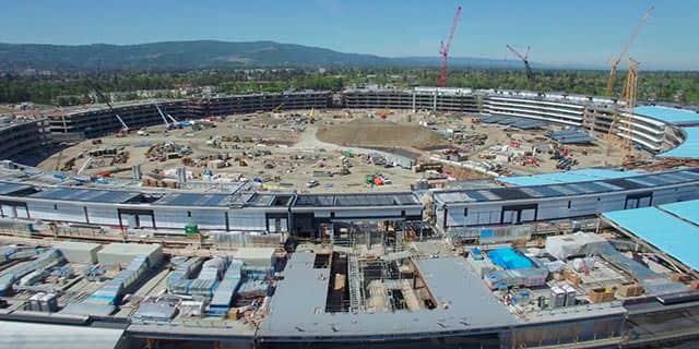 建設中の「Apple Campus 2」最新の空撮映像が公開