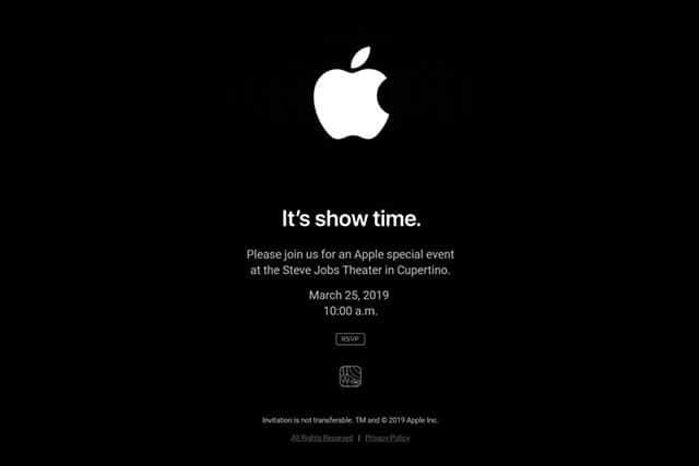 Appleが3月25日にスペシャルイベント開催