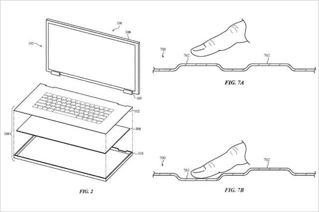 ガラス素材で一体成形するキーボードを特許出願