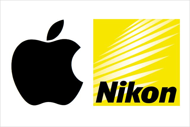 アップルとニコンのロゴ