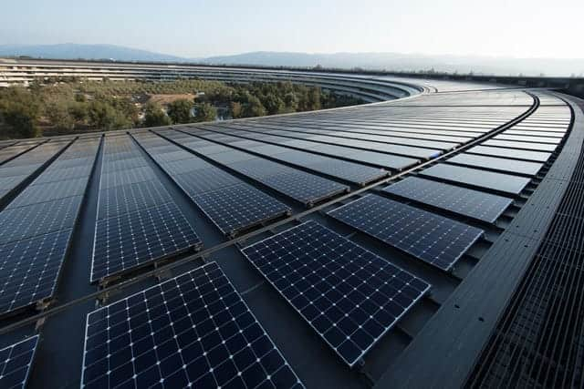 Appleが再生可能エネルギーで自社電力を100%調達