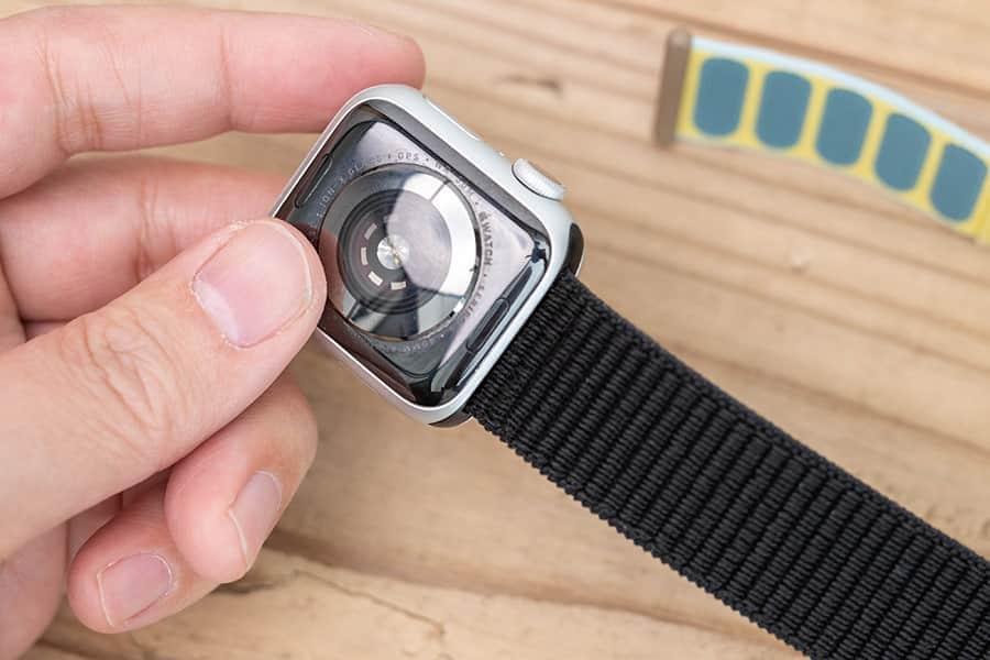 Apple Watchへの固定も問題なし