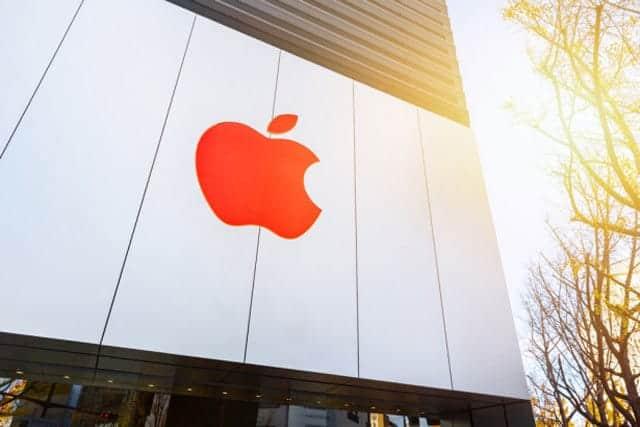 Apple Store 赤いロゴ