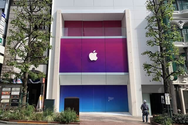 Apple 渋谷がオープン前のスペシャル仕様に!