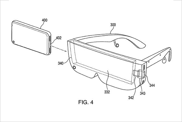 スマホを使うVRヘッドセット特許取得