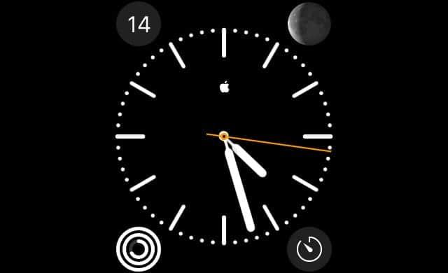 Apple Watchの文字盤にアップルのロゴマークを表示させる方法
