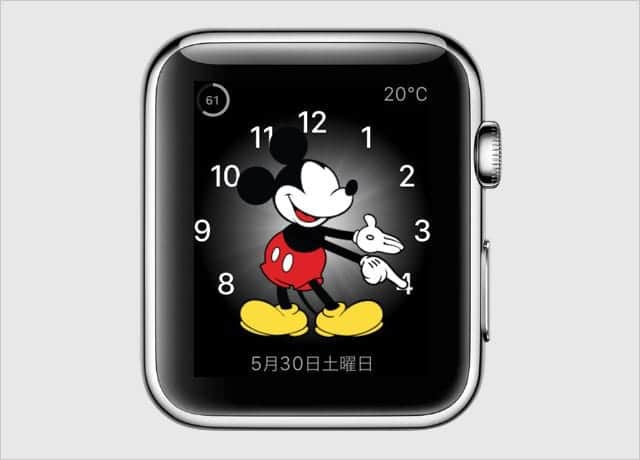 Apple Watch 文字盤 ミッキーマウス