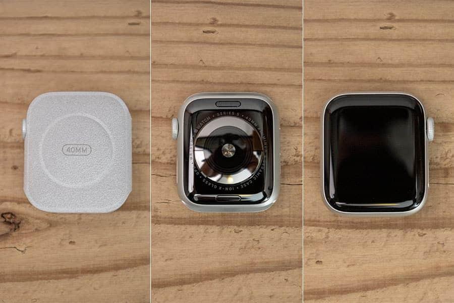 ふわふわのケースから取り出したApple Watch Series 5
