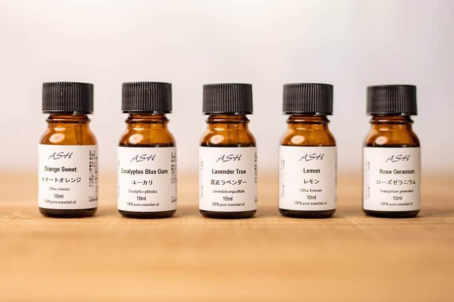 10ml×5本のアロマオイルお試しセット!5種類の中から自分好みの香りが分かる