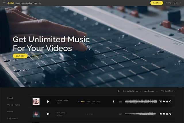 YouTube用の動画で使える音楽・効果音サイト8つまとめ Artlistを2ヶ月延長する方法