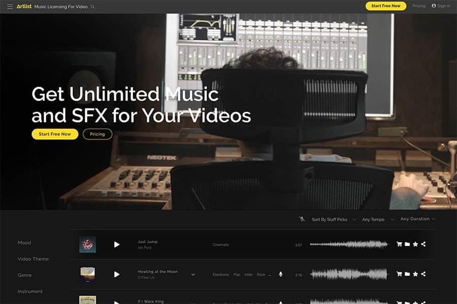 YouTube動画制作で使える著作権フリーの音楽&映像素材を無制限ダウンロード「Artlist & Artgrid」
