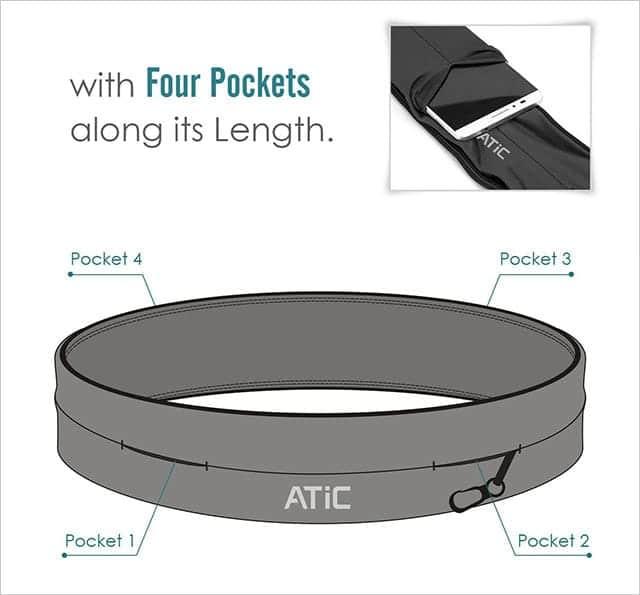 ATiC 4つのポケットとキーチェーン