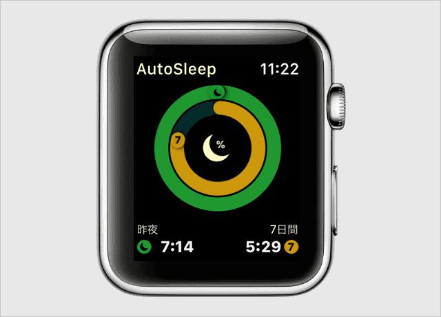 Apple Watchでも睡眠時間をチェック可能