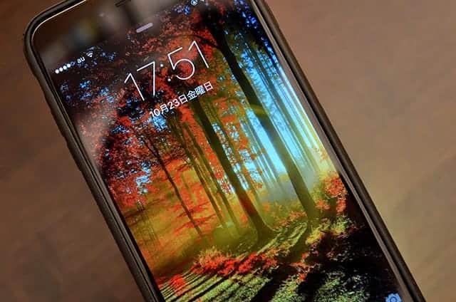 iPhoneのディスプレイも秋でいっぱい♪
