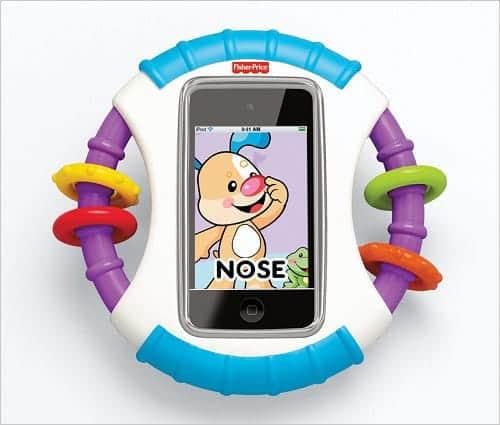 おもちゃも付いてるので普通のおもちゃとしても使える『赤ちゃん専用iケース』