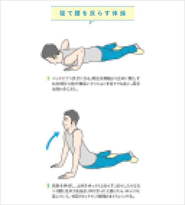 寝て腰を反らす体操