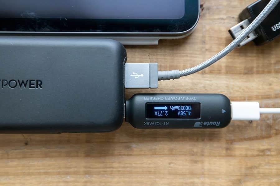 iPhone11とiPad Proを同時に充電 USB-Cの数値