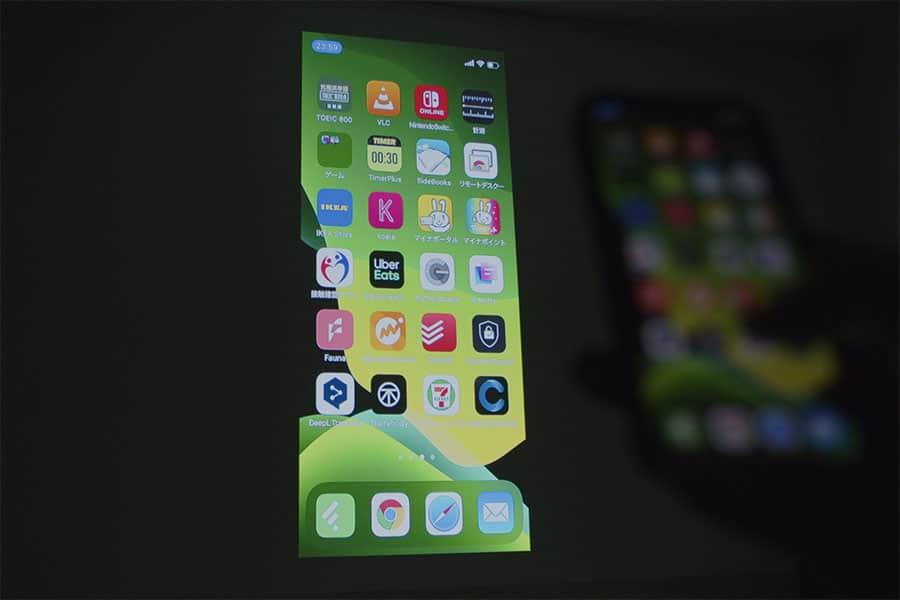 iPhoneを無線で投影