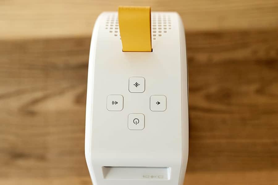 本体上部のボタン