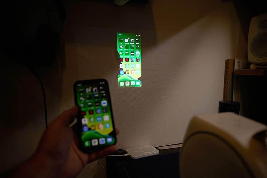 iPhoneの画面を投影