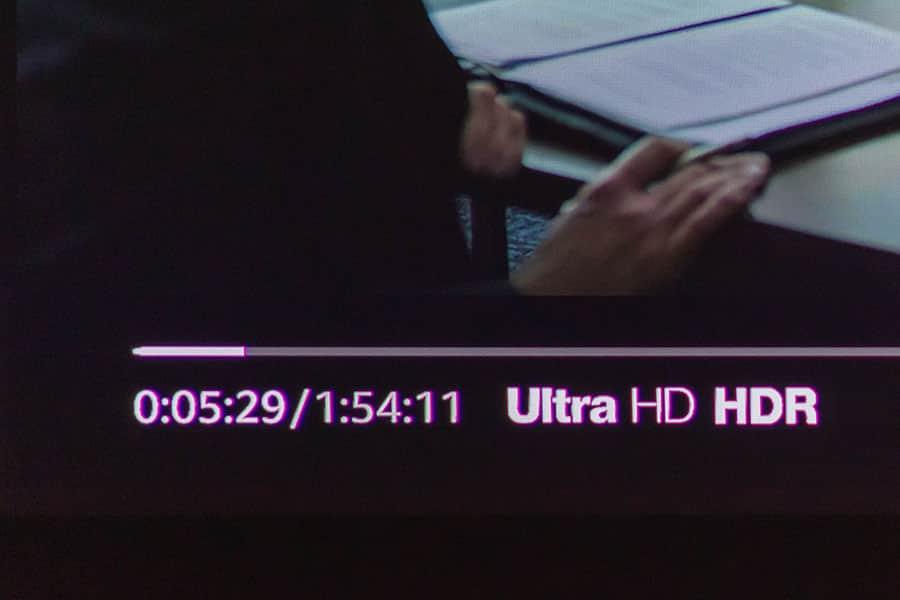 Fire TV Stick 4KでUltra HDを再生してるところ