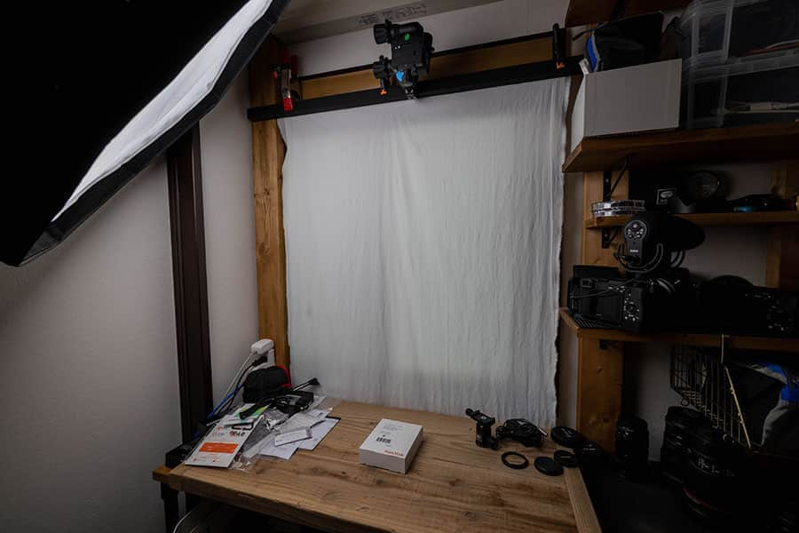 手作りの撮影台