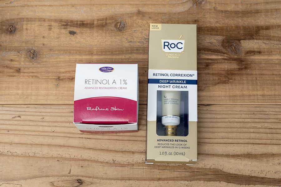 Life-flo レチノールA 1% クリームとRoC レチノールナイトクリーム