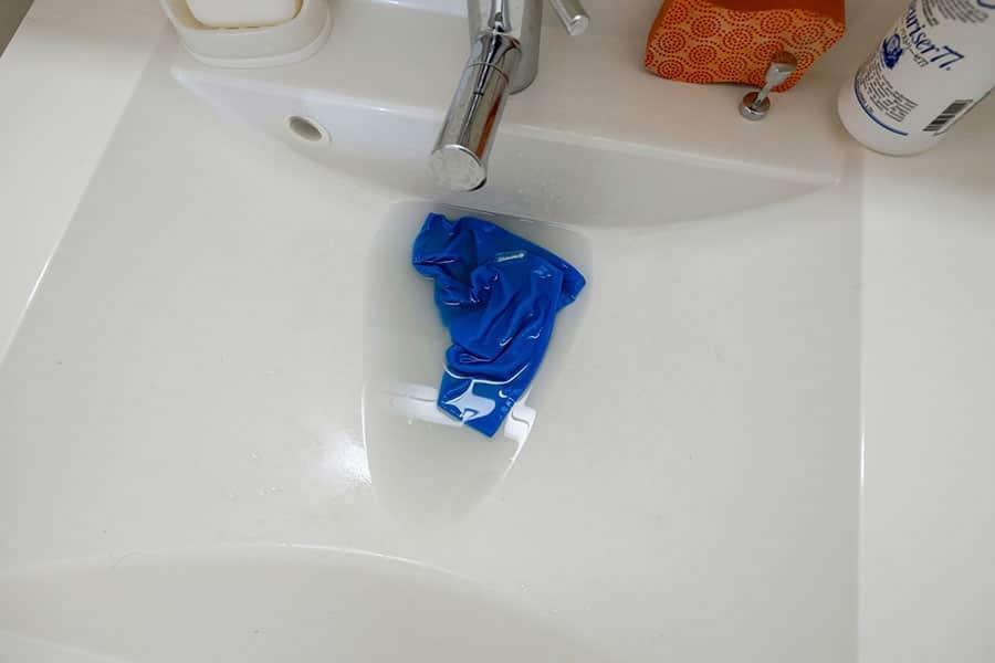 フィルターをつけおき洗い