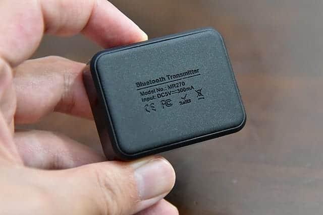 Bluetoothワイヤレスオーディオトランスミッター 底面