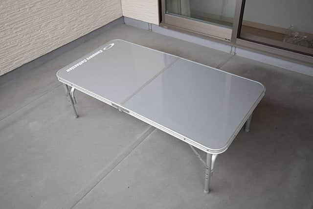 高さ37.5cmのアウトドアテーブル
