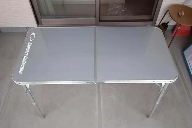 高さ70cmのアウトドアテーブル