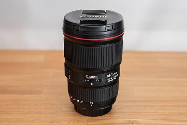 機材追加!今度は広角レンズの『Canon EF16-35mm F4L』軽くて最短撮影距離28cmは超使いやすい!