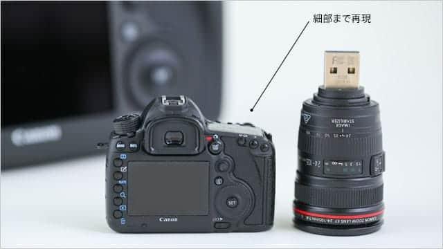 細部まで再現されたEOS 5DsとEF24-105mm