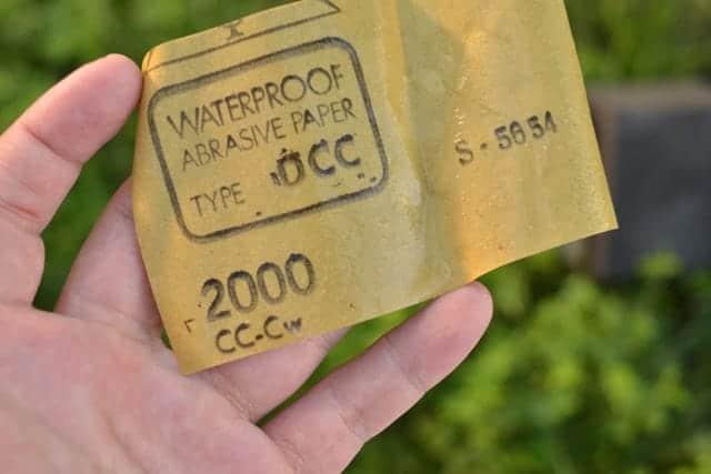 2000番の耐水ペーパー