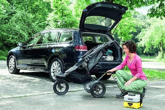車に積む前に掃除しておけば車の中も汚れません