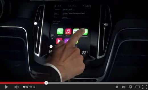 ボルボ CarPlay実際に動作してる動画
