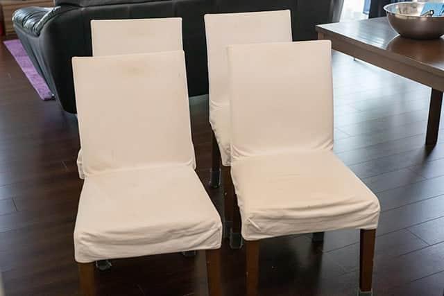 無印良品の椅子カバーが汚れたのでベージュに染め直し!結果は如何に!?