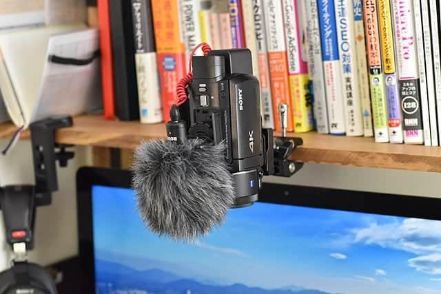 ビデオカメラのAX55を取り付ける