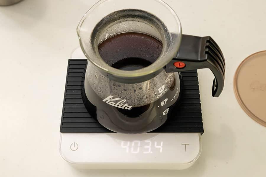 403mlのコーヒーが出来上がりました