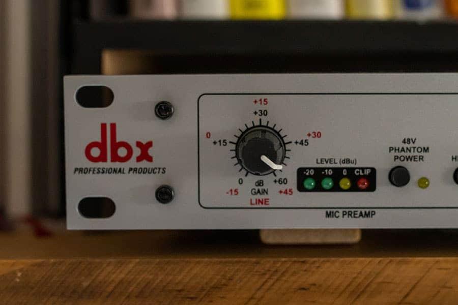 dbx 286sの入力ゲイン CL-1導入前