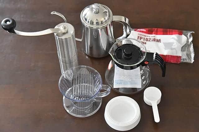 コーヒー初心者が本格的にコーヒーを始めるために厳選して購入した3つの道具。挽きたてコーヒーうますぎ。