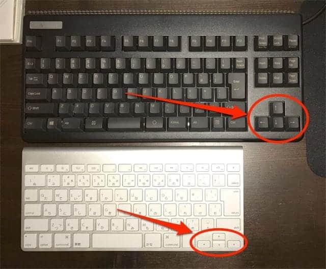 REALFORCE と Magic Keyboard