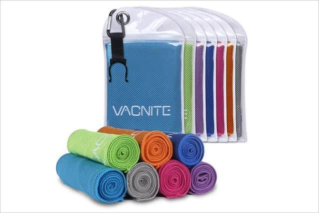 濡らして振るだけで何度でも冷たくなるタオル!熱中症の予防&対策ができるクール速乾タオル