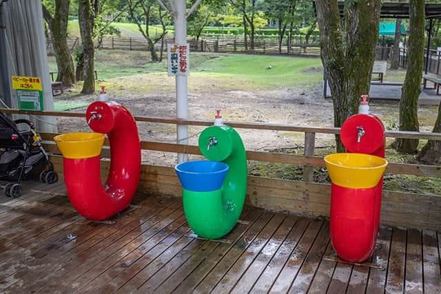手洗い場もたくさん