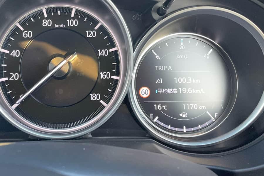CX-5の燃費リッターあたり19km